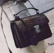 Ladies Vintage Crocodile Brand Shoulder Bag Women's Small Crossbody Messenger Chain Bags Tote Purse Mini Suitcase Christmas Gift