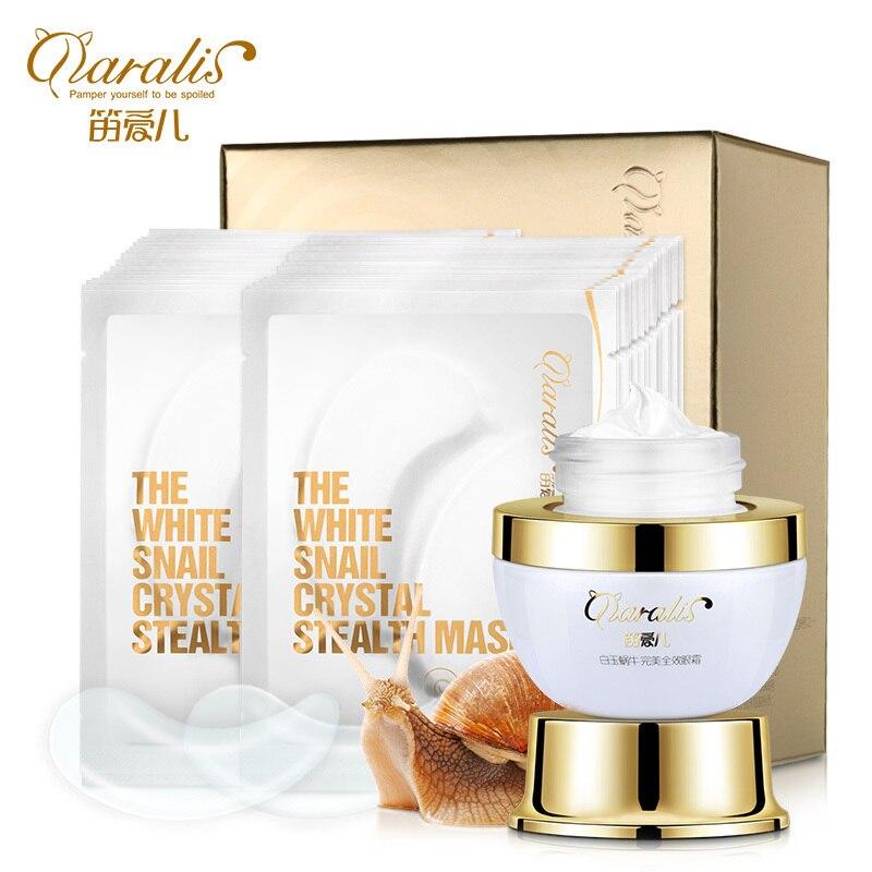 Snail Essence Eye Cream+Collagen Eye Mask Anti Wrinkle Aging Sleep Mask Dark Circles Eye Patche Mask To Face Skin Care Whitening<br>