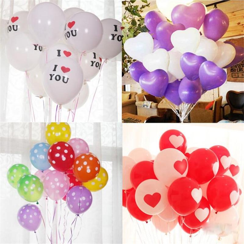 unidsbolsa gran corazn dots pure color decoracin del partido globos globo del partido decoracin de cumpleaos de la boda d