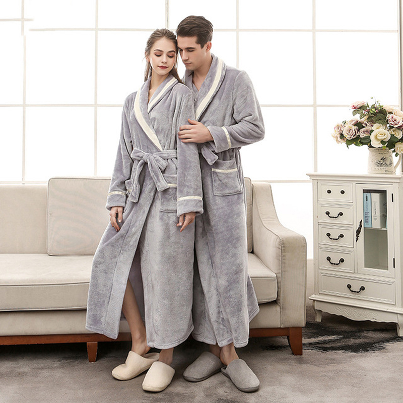 Women's Robe Warm Sexy Winte Bathrobe Women Cotton Robe Women's Bathrobe Dressing Gowns For Women Home Gowns Sleepwear Clothes
