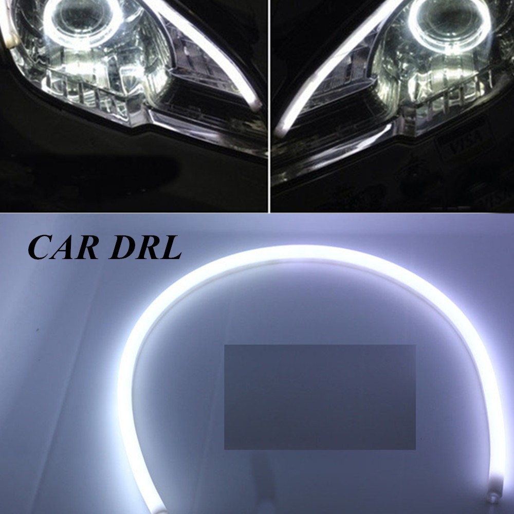 hot sell Tube strip style Daytime Running lights turn signal light  tear strip car headlight 2pcs 85cm DRL flexible LED<br><br>Aliexpress