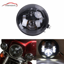 "7"" Round 60W super bright LED Headlight IP67 For Harley Davidson ATV FLD Touring Softail Motorcycle Hummer SUV for JEEP CJ C/5"