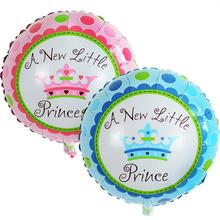 A New Little Princess 18 Inch Round Mylar Balloon Birthday Party Foil Balloons Baby Shower Decoration Event Party Supplies