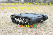 Caterpillar suvs Tank Crawler Robot Rubber tracks big load hanging crawler robot chassis,mechanical arm, free shipping DHL/Fedex