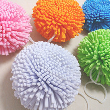 5Pcs/Lot Candy Color Natural Bath Ball Soft Comfortable Bath Sponge Easy Cleaning Bath Flower microfiber Mesh bathroom set