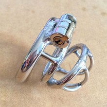 Buy 304 stainless steel short cock cage male chastity device metal cock ring penis sleeve cages chastity cage cbt sex toys men