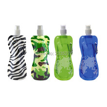 Free Shipping 2Pieces Foldable Water Bottle Eco-Friendly Water Bottle 17oz Reusable Runway Water Bottle h2o Flask BPA Free