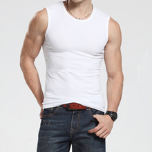Hot New Men Tank Tops Cotton Sleeveless Clothing Bodybuilding Vest Fitness Apparel Undershirt Plus Size M-XXL White Black Tops