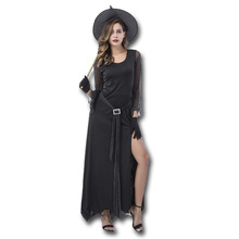 Witch Costume Halloween Party Witch Costume Women Sexy Swallow Tail Braces Performances Fancy Dress+Hat(China)
