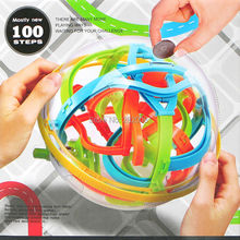 3D coins magical intelligent maze ball 100 steps,Brainteaser compete game large IQ ball toys,Labyrinth balance puzzle ball