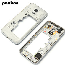 Housing Case replacement Parts For Samsung Galaxy S5 mini G800 (single card) Silver Middle frame bezel Chassis with tools