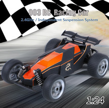Tiny Real Racing Car 2.4G 2CH 2WD 1:24 Full-scale Simulation High Speed Cars Remote Control Car Model Off-Road Vehicle Toys