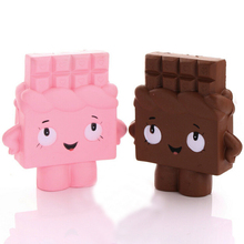 Jumbo Chocolate Boy Girl/Strawberry Squishy Soft Slow Rising Scented Sweet Cream Gift Fun Toy Mobile Phone Straps Charms(China)