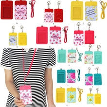 HOT Brand Cute Fruit Double-Layer Card Note Holder Bus Business Credit Cover Case Wallet