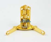 40 Gold Jewelry Box Hinge Small Hinge 33x30mm with Screws