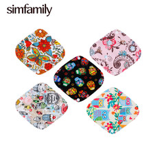 [simfamily] 5+1 panty liner sets Reusable Waterproof Bamboo cotton menstrual cloth sanitary,Stay Dry Super Absorption & Healthy(China)