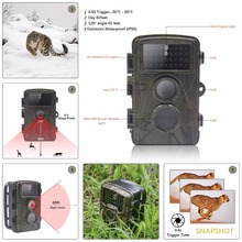 Photo traps 0.6s trigger 12MP 1080P HD Night Vision Hunting camera 12 months standby Outdoor hidden wireless security camera(China)