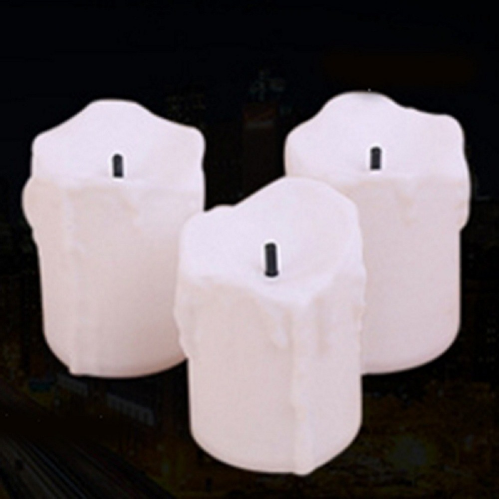 12 PCS of LED Electric Battery Powered Tealight Candles Warm White Flameless for Holiday/Wedding Decoration 2