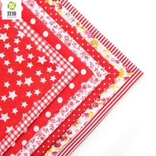 Cotton Fabric No Repeat Design Red Series Patchwork Fabric Fat Quater Bundle Sewing For Fabric 7pieces/lot 50x50cm A1-7-2(Hong Kong)