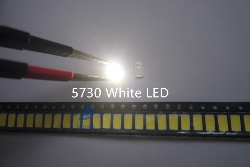 100 PCS 5630//5730 Single Chip SMD SMT LED 0.5W White