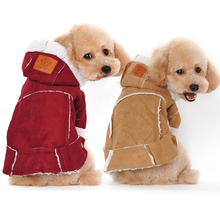 Winter Dog Clothes For Dogs Large Thicken Dog Coat Jacket Warm Winter Pet Coat For Small Dog Cloth Puppy Outfit Chihuahua 20F1(China)