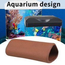Aquarium Ceramics Purple Sand Triangle Ornamental Shrimps Shelter Hiding Spot