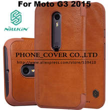 Nillkin Genuine Wallet Leather Case cover For Motorola MOTO G3 G 3nd Gen 2015 bags skin cases + HD / Glass screen protectors
