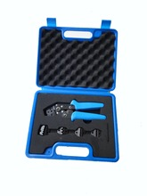 Mini crimping Combination Tools kits in Plastic Box ,with kinds of die sets DN0725-5D1
