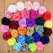 "400pcs/lot 2.36"" Baked Burn Satin Rosette Artificial Flowers Articial Handmade Apparel Hair Accessories Fashion DIY Wholesale(China)"