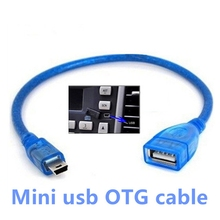 Mini USB Male to USB Female Car OTG Cable Adapter Vehicle 5P OTG V3 Port Data Cable For Video Camera Audio Tablet CD MP3 MP4 GPS(China)