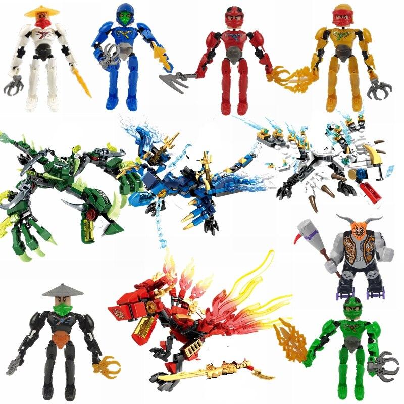 Blocks Toys & Hobbies Ninja Sets NINJA Heroes Kai Jay Cole Zane Nya Lloyd With Weapon Action Figure Toy For Children Ninja Movie