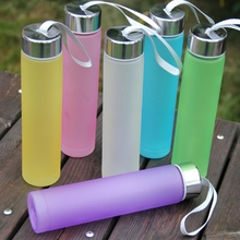 New Fashion 280ml Unbreakable Water Bottle Creative Portable Sports Outdoor School Bottle With Straw Plastic Cup Juice space Cup