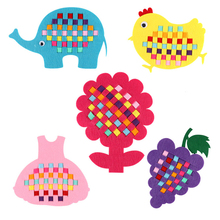 Nonwoven Fabric Children Hand Woven Toys Cute Kid Birthday Party Decoration Festival Gift Hand Material Bags DIY Craft Supplies(China)
