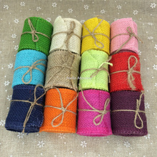 Buy Mouticolour Natural Jute Burlap Hessian Ribbon Trims Tape Rustic Wedding party decorations DIY wedding Burlap Flower DIY for $1.59 in AliExpress store