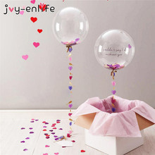 JOY-ENLIFE 1pcs 18/24/36inch Round Clear PVC Balloons or 15g Confetti Wedding Brithday Party Hen Party Decor Photo Prop Supplies(China)