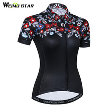 Weimostar Women Cycling Jersey Short Sleeve Breathable Cycling Clothing Quick Dry Downhill Bike Jersey Team MTB Bicycle Jersey