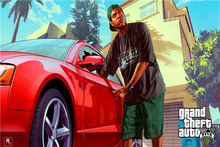 Custom Canvas Art Grand Theft Auto Poster GTA5 San Andreas Game Wallpaper Denzel Washington Wall Stickers Mural Home Decor #784#(China)