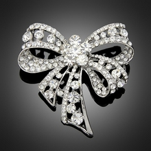 (6pcs/Lot) Rhinestone Bow Brooches Jewelry Fashion Luxury Channel Brooch Pins For Women Band Jewelry Brooch Cheap Wholesale