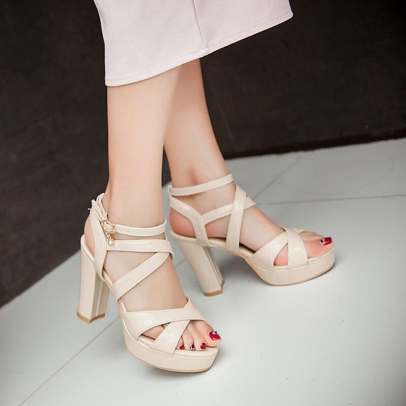 2017 Ladies Shoes Sandalias Sexy Fashion Sandals Women Big Size 34- 43 Sandals Ladies Lady Shoes High Heel Women Pumps d-38<br><br>Aliexpress