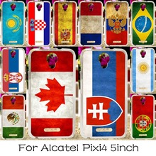 Soft TPU Phone Case For Alcatel OneTouch Pixi 4 5.0'' OT-5010 5010D 3G Version Cover National Flag America Shell Housing