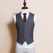 Custom Made Men Vest Suit Waistcoats Blazers Jackets Men's Casual Fashion Slim Fit Sleeveless Business Men's Vests(China)