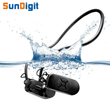 SunDigit Original Bone Conduction Waterproof MP3 Player Swimming Swim Surfing Sport Earphones Lossless Music 4gb 8gb Player IPX8(China)