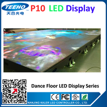 HOT SALE dancing custom made P10 led dance floor LED display screen led videowall large video screens led advertising boards
