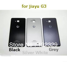 Free shipping hot selling original  back cover battery protective case for Jiayu G3 jiayu G4 android phone black grey silver