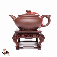 Red mahogany base acid branch wood carving handicraft furnishing articles stone vases of Buddha flowerpot household act the role(China)