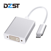 DZLST USB C to DVI 24+5 Pin 1080P Adapter Converter Cable Metal Male Type-C 3.1 to Female DVI for Macbook Pro Chrombook(China)