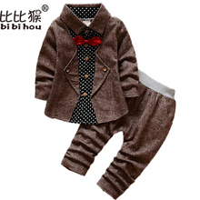 Autumn Baby Boys Dress Suits Clothes for Weddings Boys Children Shirts Pants Blazer Kids Tuxedo Formal Suits Clothing Jackets(China)