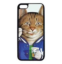 Yogurt Cat Coach Funny Cartoon For iPhone 5 5s SE 6 6s 7 Plus Case TPU Phone Cases Cover Mobile Protection Decor Gift(China)