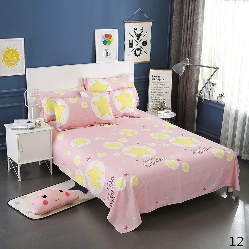 100% Cotton Modern Fashion Bed Flowers Flowers And Trees Printing Pattern 3pcs Bed Sheets Pillowcase Large Size 230x250cm 15