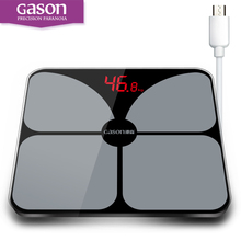 GASON A3s USB Charging Scales LED Digital Display Weight Weighing Floor Electronic Smart Balance Body Household Bathrooms 180KG